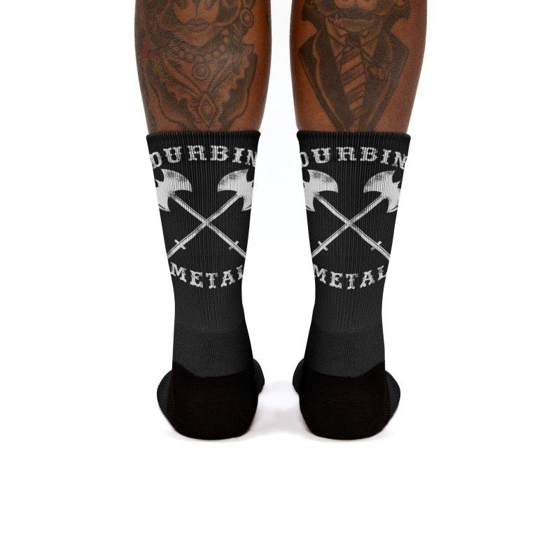 DURBIN METAL (Black & White) Women's Socks by James Durbin's Artist Shop