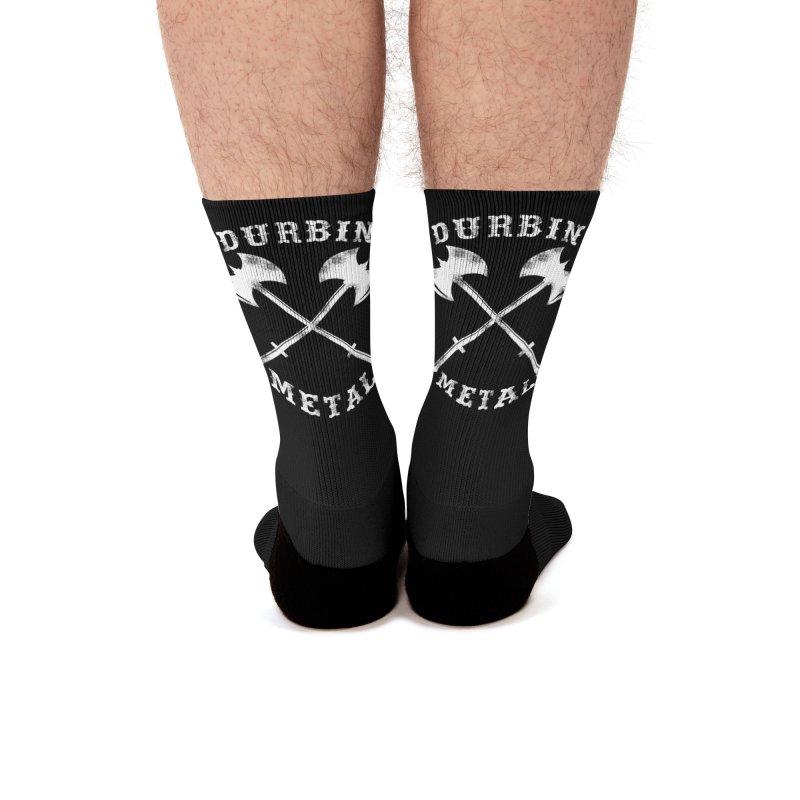 DURBIN METAL (Black & White) Men's Socks by James Durbin's Artist Shop