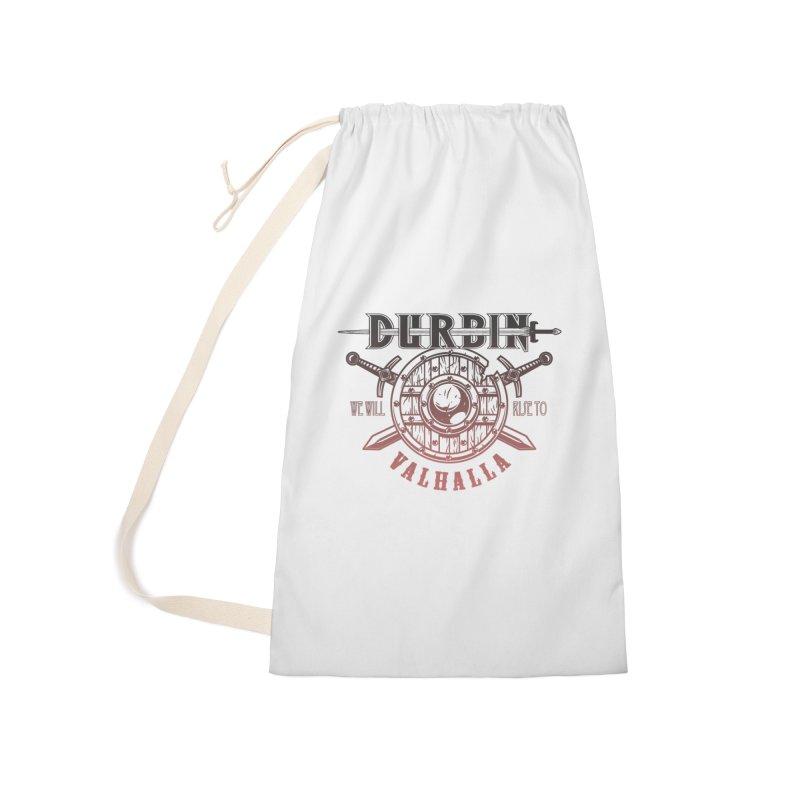 """DURBIN """"Rise To Valhalla"""" (Red Gradient) Accessories Bag by James Durbin's Artist Shop"""