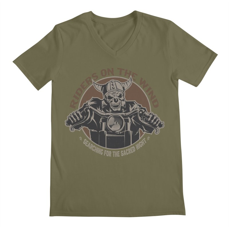 RIDERS ON THE WIND Men's V-Neck by James Durbin's Artist Shop