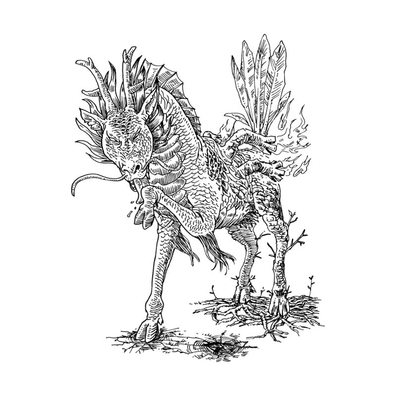 Wood Kirin by James Leong on Threadless
