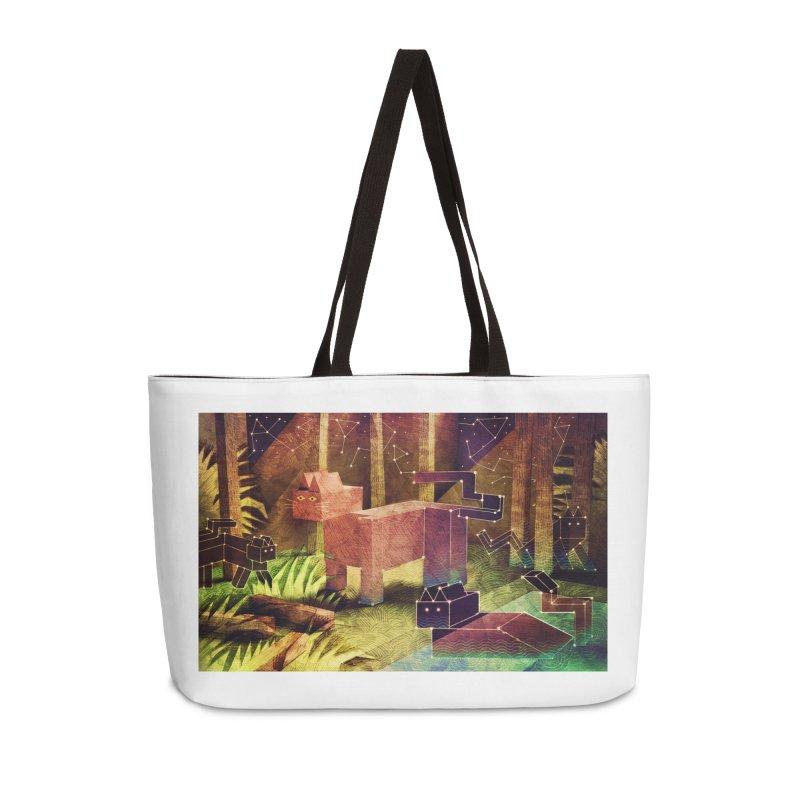 Constellation Cats Accessories Weekender Bag Bag by jamesshedden's Artist Shop
