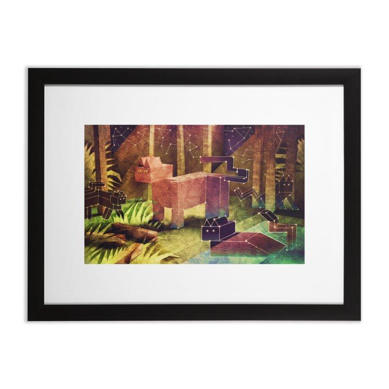 Constellation Cats Home Framed Fine Art Print by jamesshedden's Artist Shop