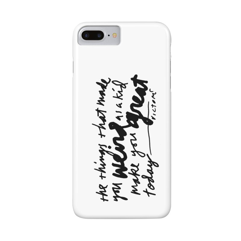Weird Kid phone case in iPhone 7 Plus Phone Case Slim by James Victore's Artist Shop