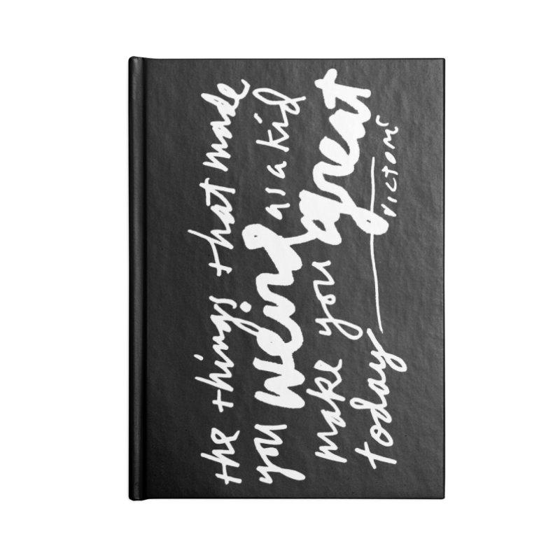 Weird Kid (Vertical, black) Accessories Lined Journal Notebook by James Victore's Artist Shop