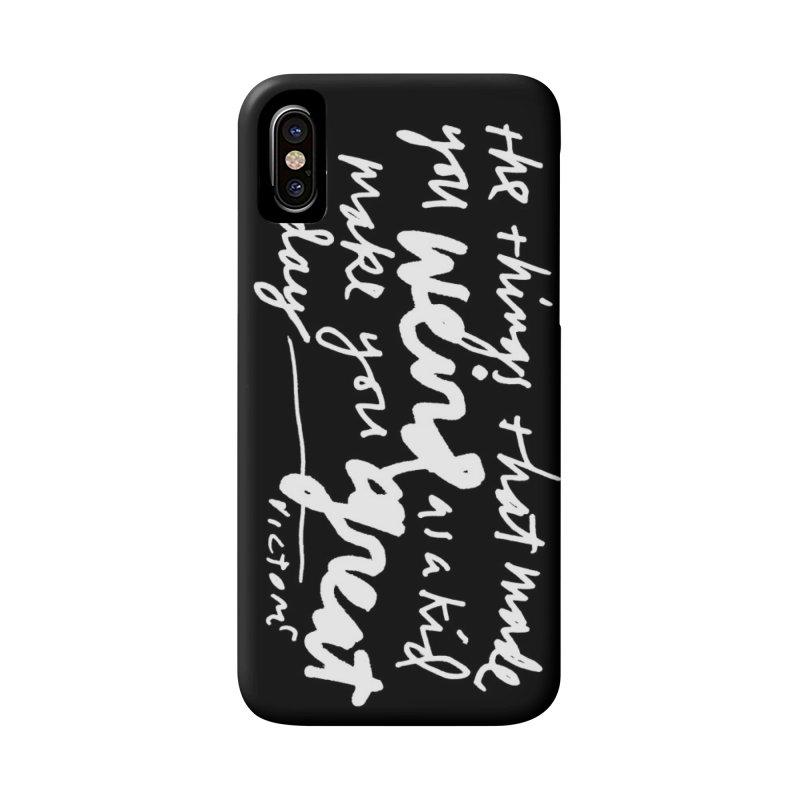 Weird Kid phone case (black)  Accessories Phone Case by James Victore's Artist Shop