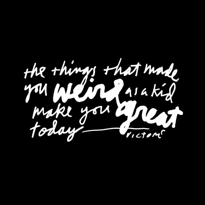 Weird Kid (Vertical, black) Accessories Notebook by James Victore's Artist Shop