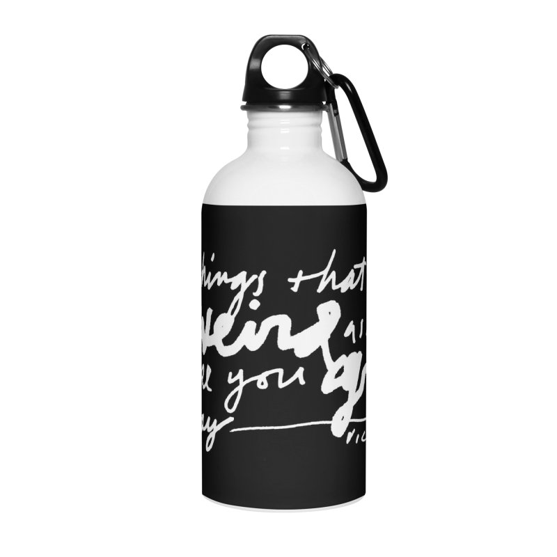 Weird Kid (Vertical, black) Accessories Water Bottle by James Victore's Artist Shop