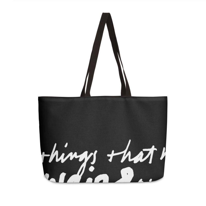 Weird Kid (Vertical, black) Accessories Weekender Bag Bag by James Victore's Artist Shop