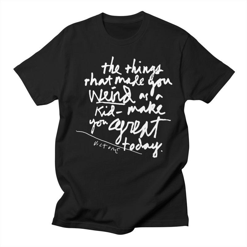 Weird Kid (black) in Men's T-shirt Black by James Victore's Artist Shop