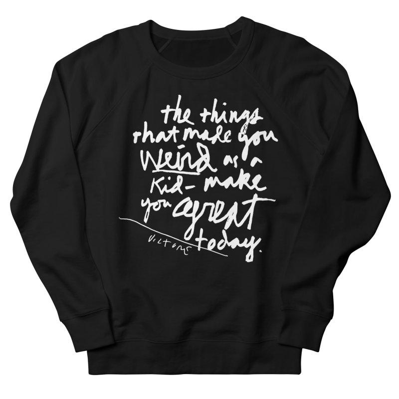 Weird Kid (black) Men's Sweatshirt by James Victore's Artist Shop