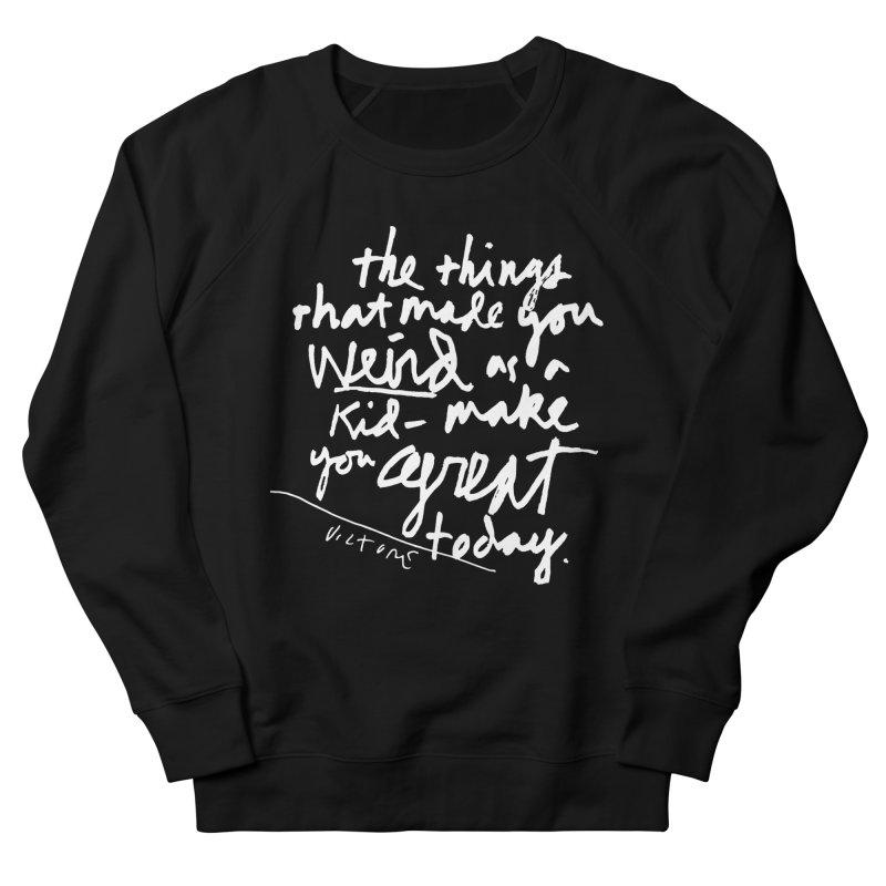 Weird Kid (black) Women's Sweatshirt by James Victore's Artist Shop