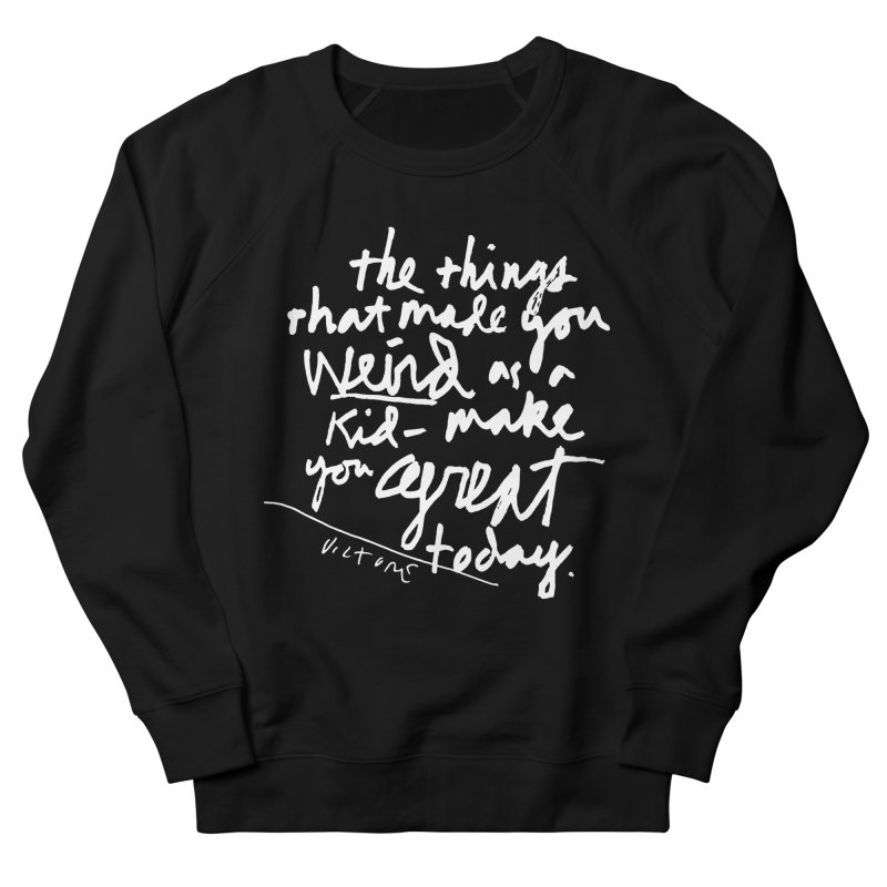 Weird Kid (black) Women's French Terry Sweatshirt by James Victore's Artist Shop