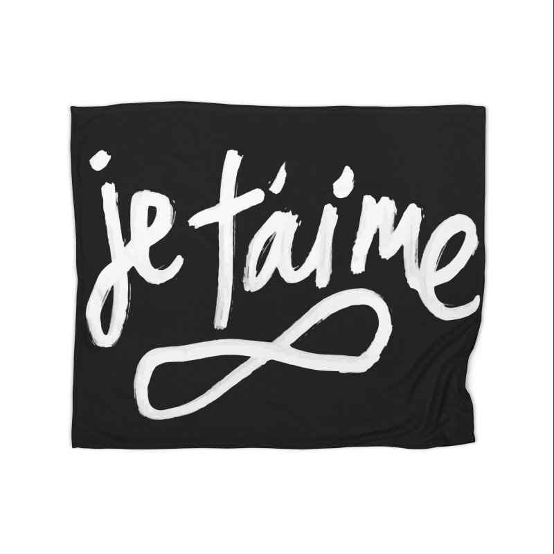 Je T'aime (black) Home Blanket by James Victore's Artist Shop