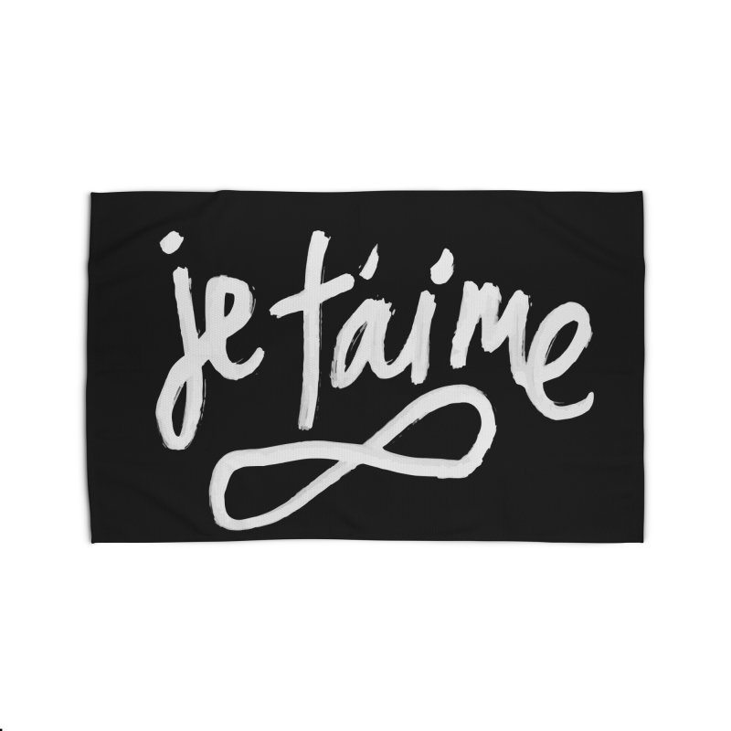 Je T'aime (black) Home Rug by James Victore's Artist Shop