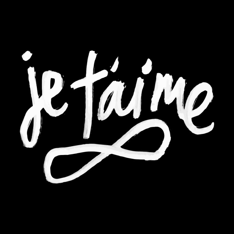 Je T'aime (black) Women's Sweatshirt by James Victore's Artist Shop