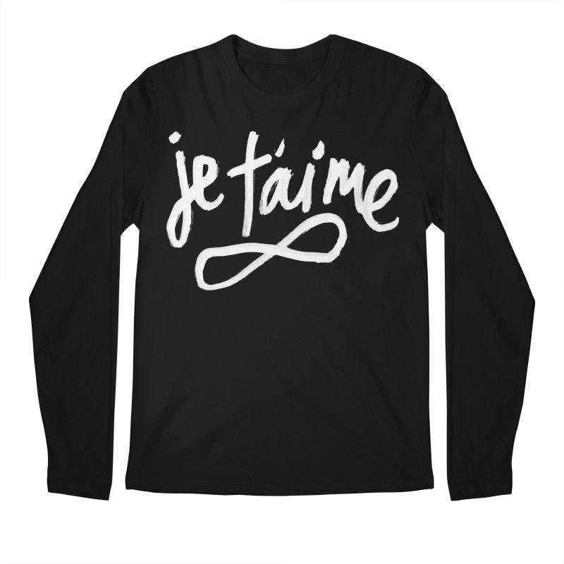 Je T'aime (black) Men's Longsleeve T-Shirt by James Victore's Artist Shop