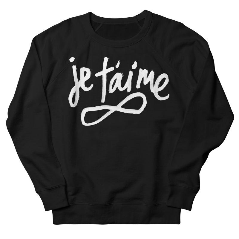 Je T'aime (black) Men's Sweatshirt by James Victore's Artist Shop