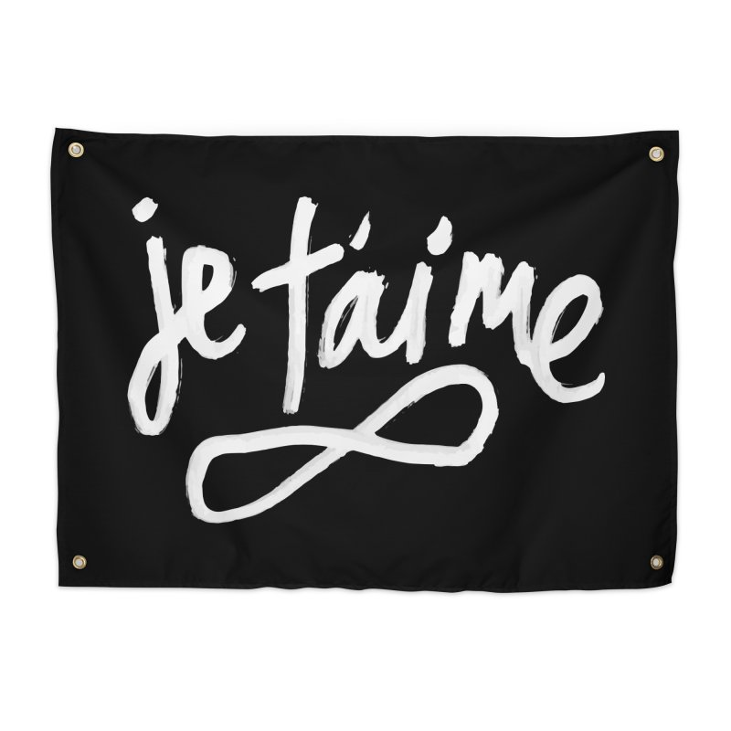 Je T'aime (black) Home Tapestry by James Victore's Artist Shop