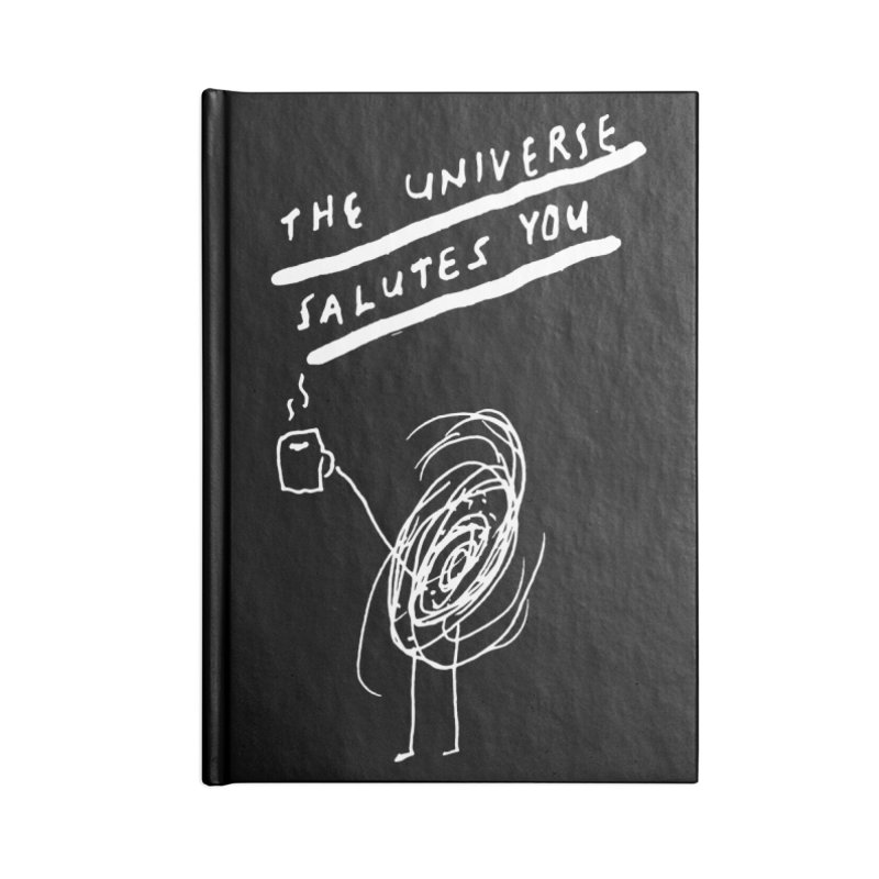 The Universe Salutes You (black) Accessories Notebook by James Victore's Artist Shop