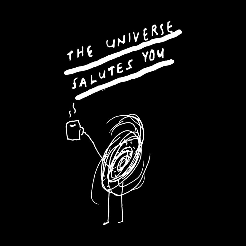 The Universe Salutes You (black) Home Blanket by James Victore's Artist Shop