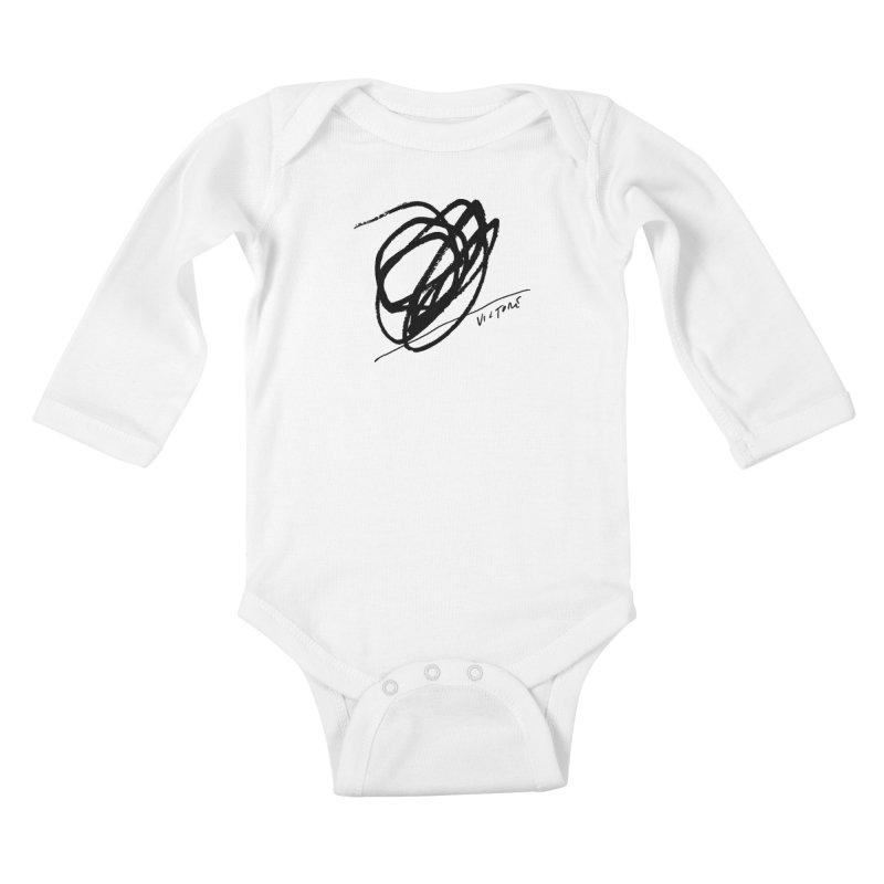 Scribble Kids Baby Longsleeve Bodysuit by James Victore's Artist Shop