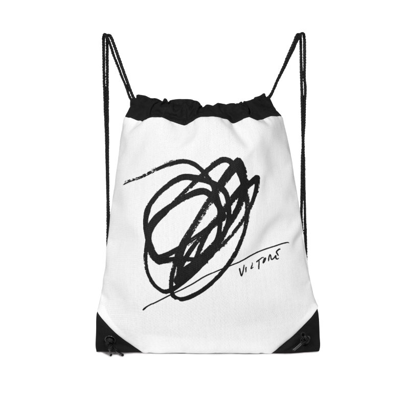 Scribble Accessories Drawstring Bag Bag by James Victore's Artist Shop
