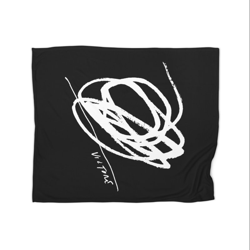 Scribble (black) Home Fleece Blanket Blanket by James Victore's Artist Shop