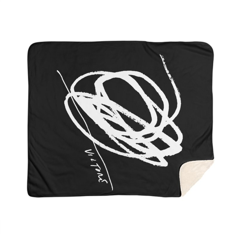 Scribble (black) Home Sherpa Blanket Blanket by James Victore's Artist Shop