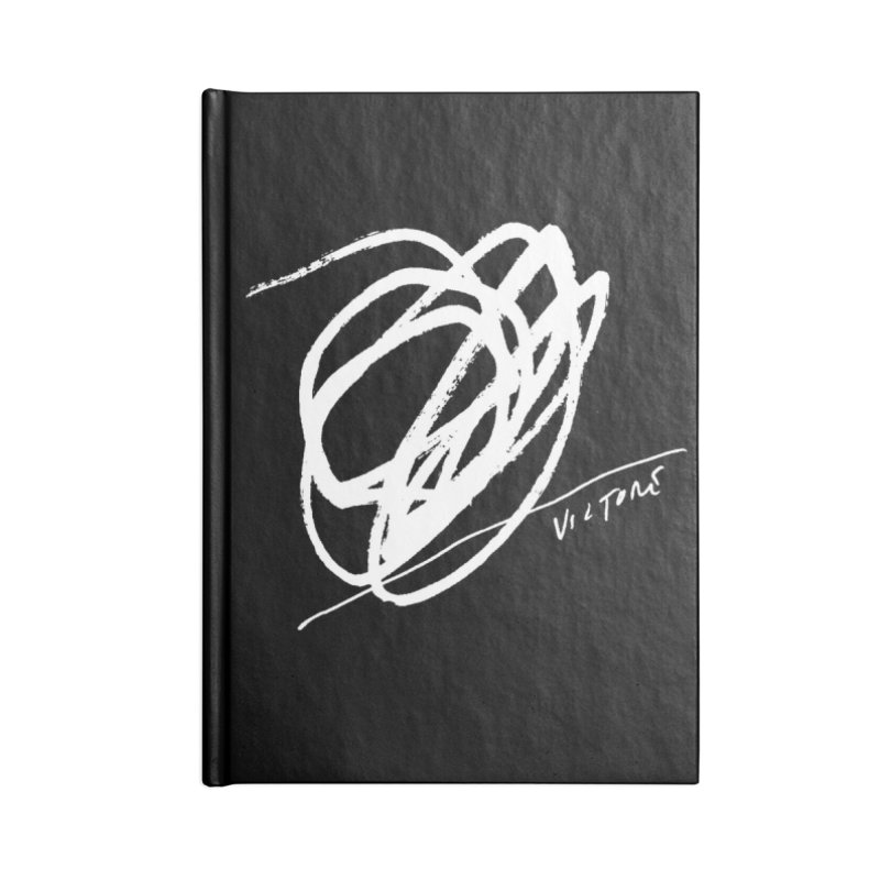 Scribble (black) Accessories Lined Journal Notebook by James Victore's Artist Shop