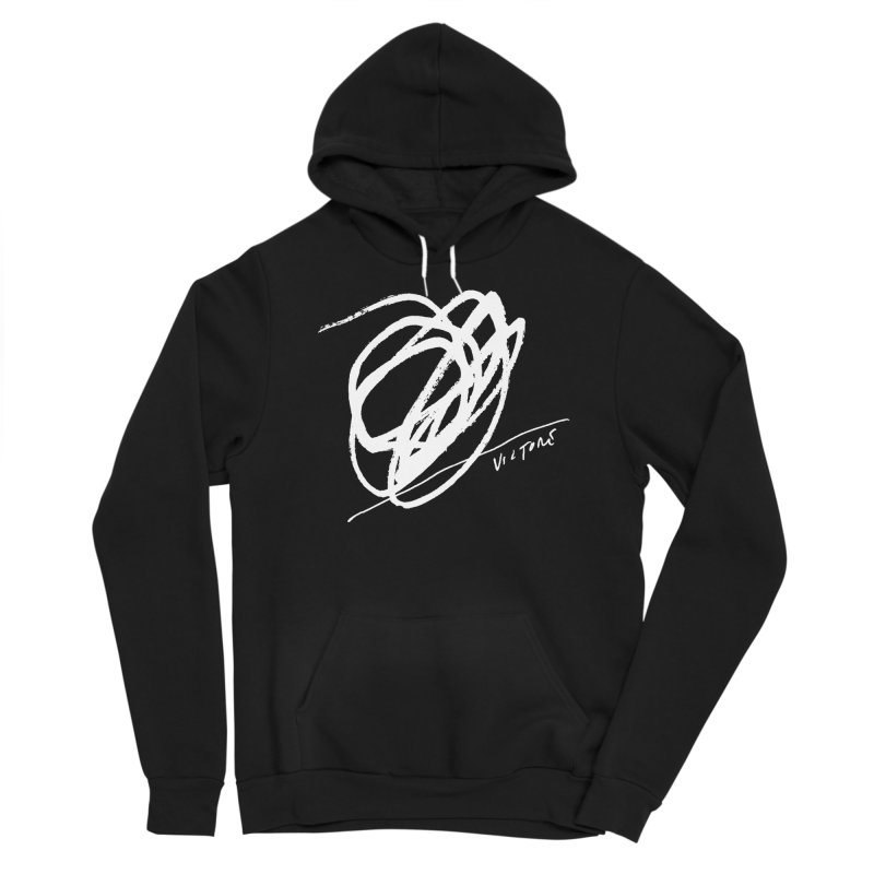 Scribble (black) Women's Pullover Hoody by James Victore's Artist Shop
