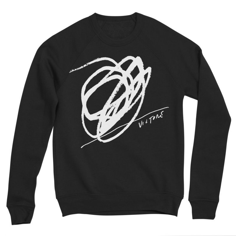 Scribble (black) Women's Sponge Fleece Sweatshirt by James Victore's Artist Shop