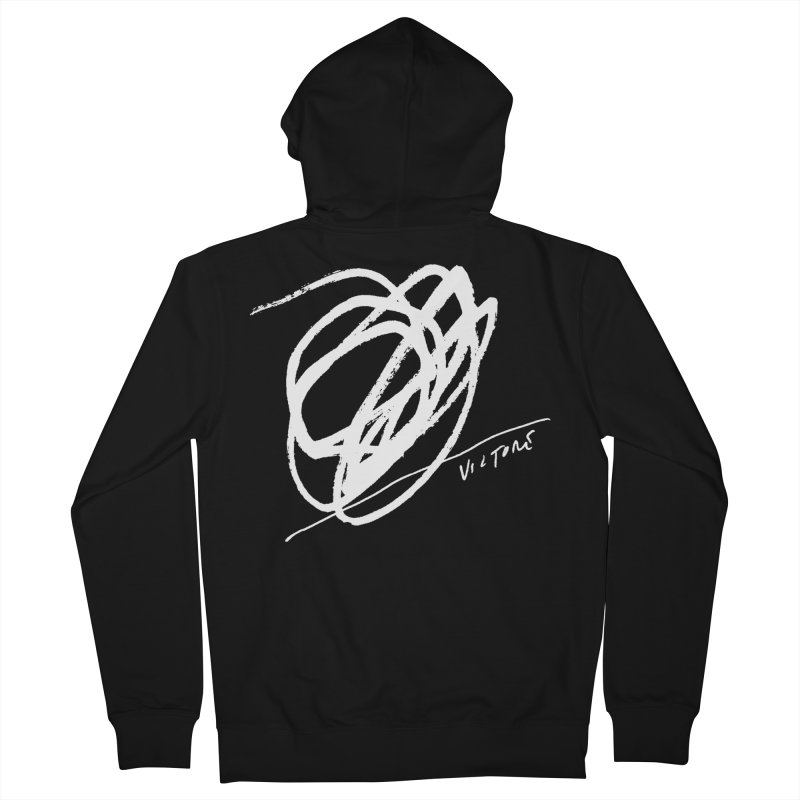 Scribble (black) Women's French Terry Zip-Up Hoody by James Victore's Artist Shop