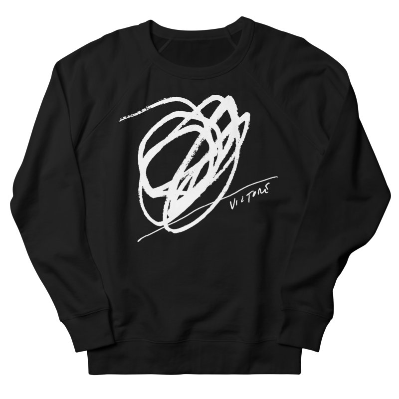Scribble (black) Women's French Terry Sweatshirt by James Victore's Artist Shop