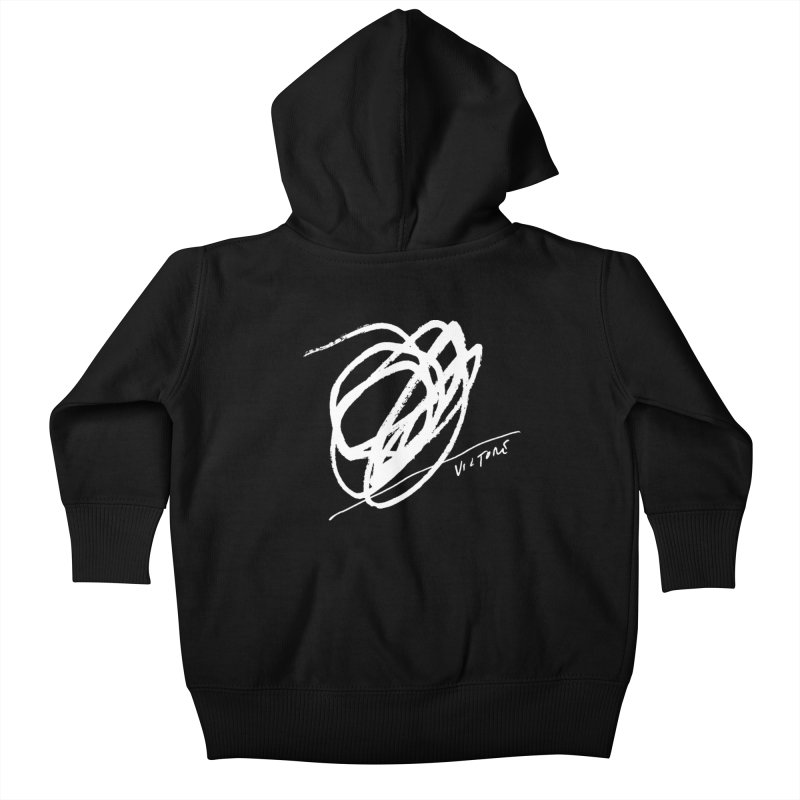Scribble (black) Kids Baby Zip-Up Hoody by James Victore's Artist Shop
