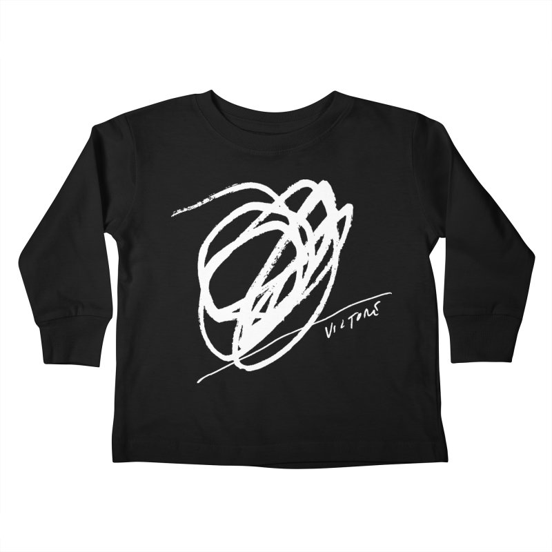 Scribble (black) Kids Toddler Longsleeve T-Shirt by James Victore's Artist Shop