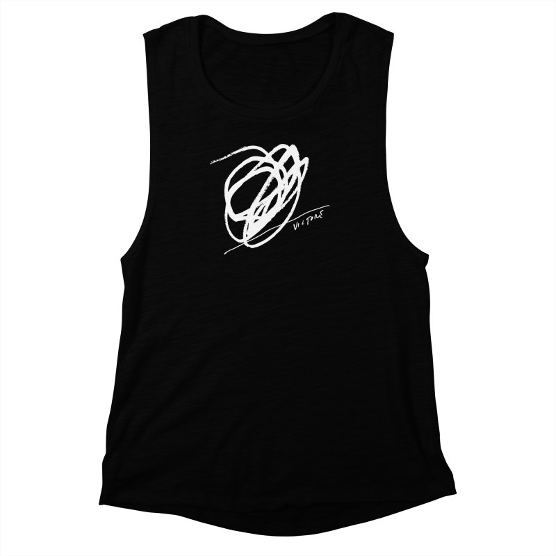 Scribble (black) Women's Muscle Tank by James Victore's Artist Shop