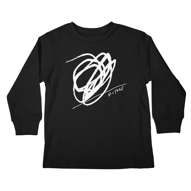 Scribble (black) Kids Longsleeve T-Shirt by James Victore's Artist Shop