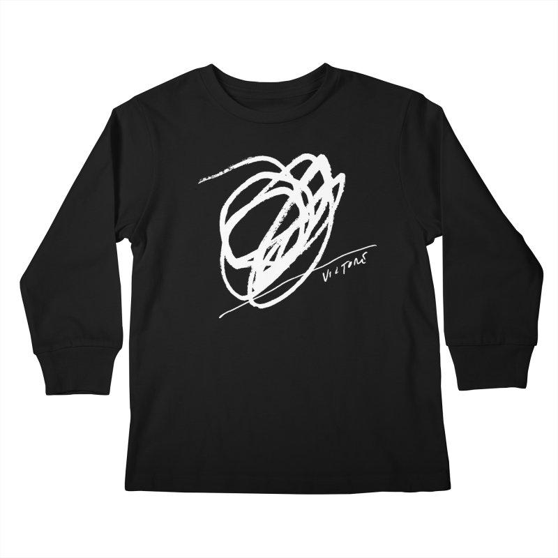Scribble (black) Kids Longsleeve T-Shirt by James Victore's Artist Shop