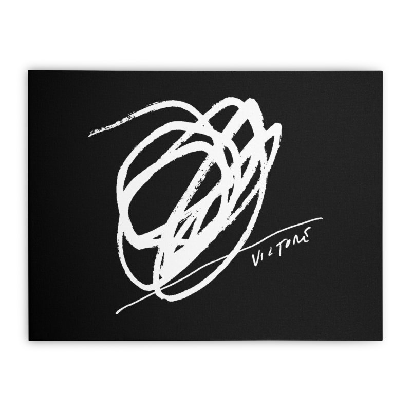 Scribble (black) Home Stretched Canvas by James Victore's Artist Shop