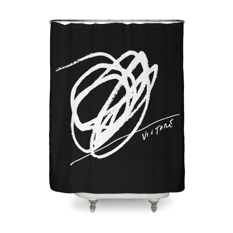 Scribble (black) Home Shower Curtain by James Victore's Artist Shop