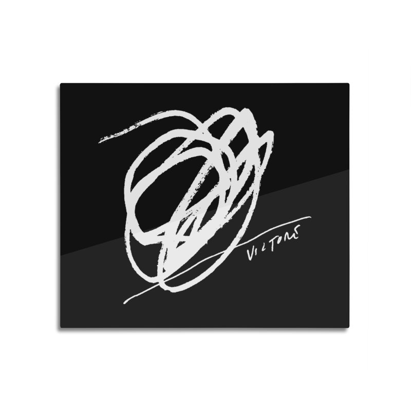 Scribble (black) Home Mounted Aluminum Print by James Victore's Artist Shop