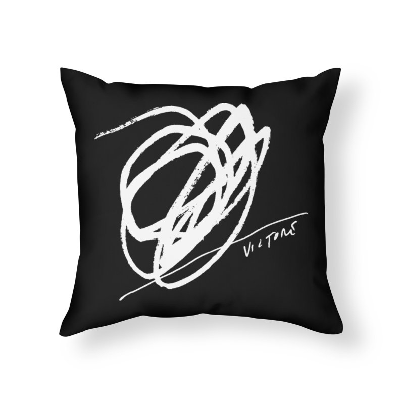Scribble (black) Home Throw Pillow by James Victore's Artist Shop