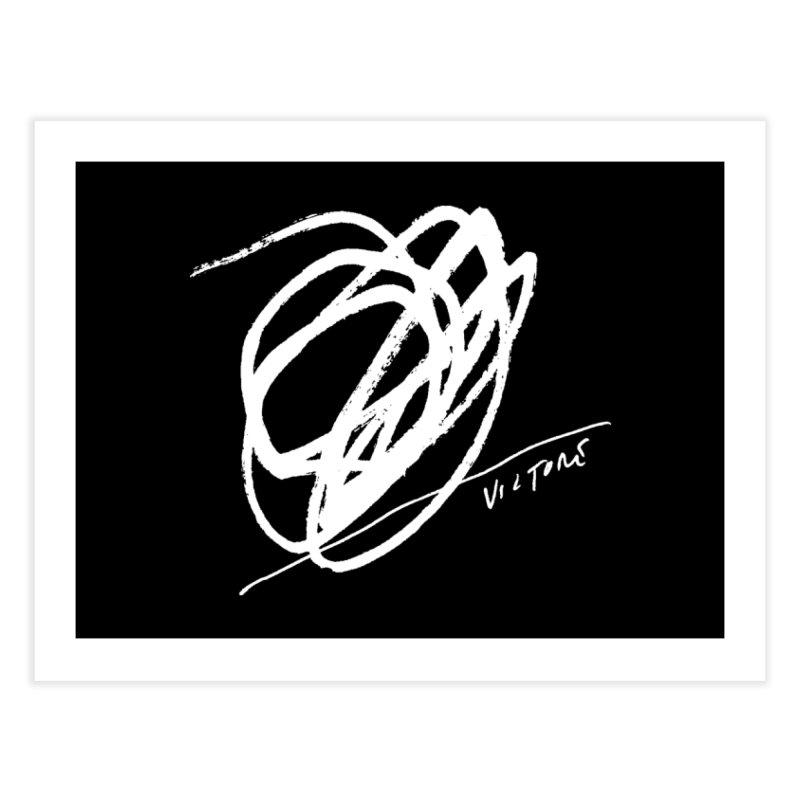 Scribble (black) Home Fine Art Print by James Victore's Artist Shop