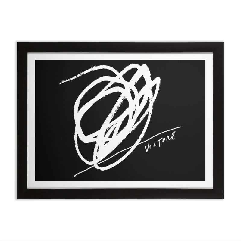 Scribble (black) Home Framed Fine Art Print by James Victore's Artist Shop