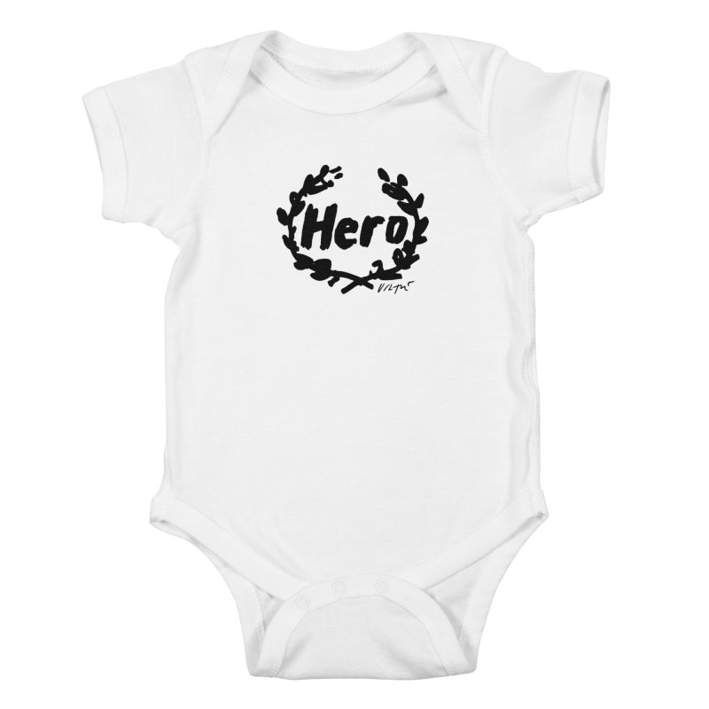 Hero Kids Baby Bodysuit by James Victore's Artist Shop