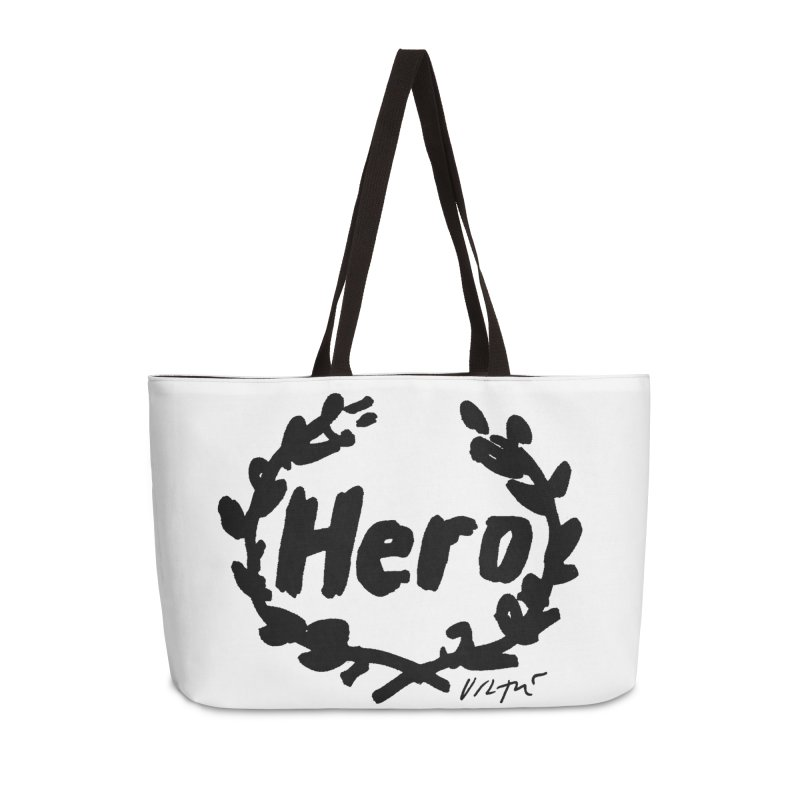 Hero in Weekender Bag by James Victore's Artist Shop