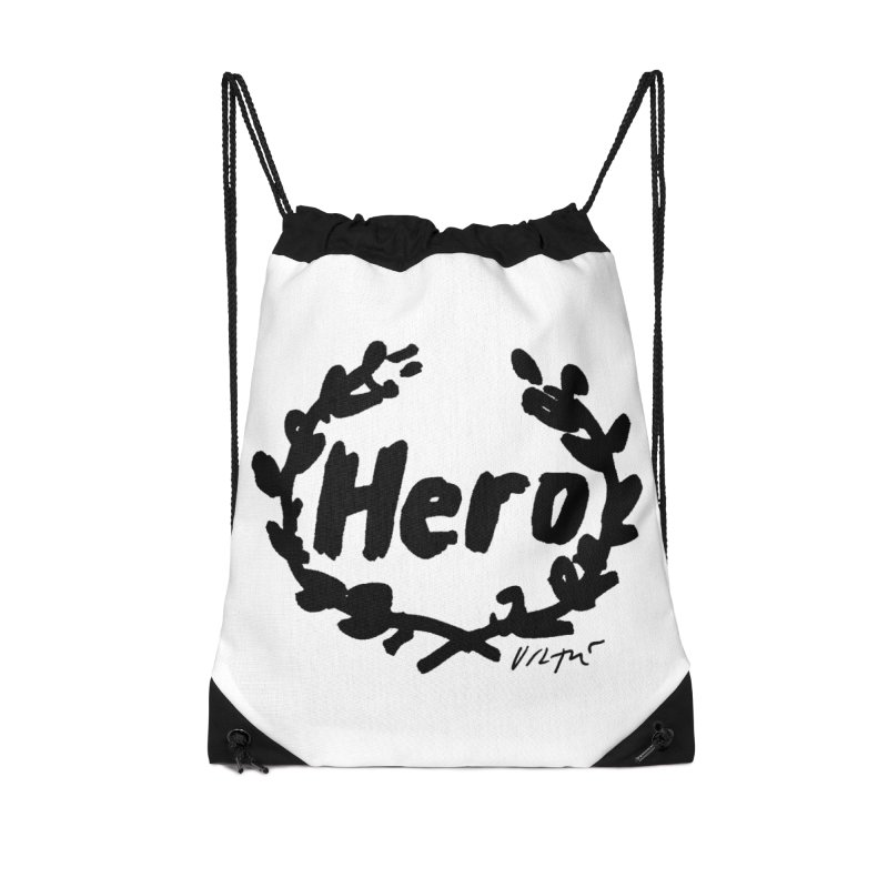 Hero Accessories Drawstring Bag Bag by James Victore's Artist Shop