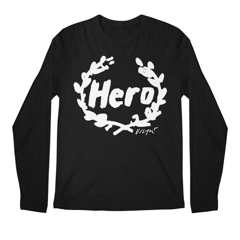 Hero (black) Men's Longsleeve T-Shirt by James Victore's Artist Shop