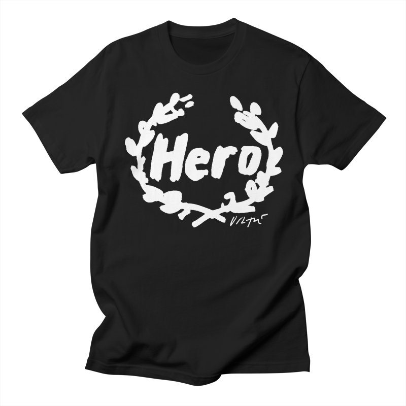 Hero (black) Men's Regular T-Shirt by James Victore's Artist Shop
